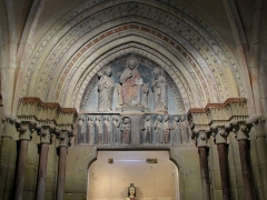 Eglise catholique Saints-Pierre-et-Paul - Alsace, Haut-Rhin, Église Saints-Pierre-et-Paul (XIIIe-XIXe) d'Eguisheim (PA00085415,  IA68000505). Tympan