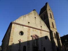 Eglise catholique Saints-Pierre-et-Paul - Église Saints-Pierre-et-Paul à Eguisheim (Haut-Rhin, France).
