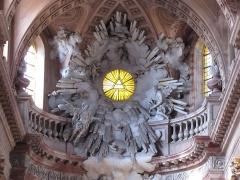 Abbaye - Français:   Alsace, Haut-Rhin, Église abbatiale Notre-Dame de Guebwiller (1768-1785), place Jeanne-d\'Arc (PA00085438, IA00054832). Sculpture monumentale du chœur (XVIIIe).