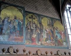 Eglise Saint-Léger - Alsace, Haut-Rhin, Église Saint-Léger (XIIIe) de Guebwiller (PA00085440, IA00054831). Fresques