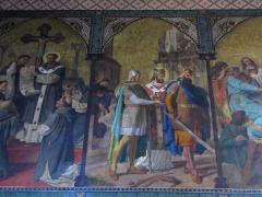 Eglise Saint-Léger - Alsace, Haut-Rhin, Église Saint-Léger (XIIIe) de Guebwiller (PA00085440, IA00054831). Fresque