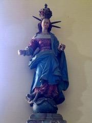 Eglise catholique Sainte-Colombe - Alsace, Haut-Rhin, Église Sainte-Colombe (XIIe-XVIIIe) de Hattstatt (PA00085456, IA68004258). Statue