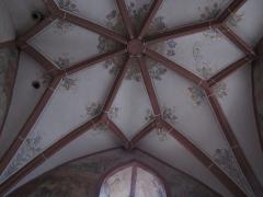 Eglise mixte Saint-Jacques-le-Majeur et son enceinte fortifiée - Français:   Alsace, Haut-Rhin, Église Saint-Jacques-le-Majeur (XVe-XVIe) de Hunawihr (PA00085463, IA68005952). Voûtes avec clés de voûtes et fresques