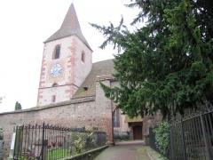 Eglise mixte Saint-Jacques-le-Majeur et son enceinte fortifiée - Français:   Alsace, Haut-Rhin, Église Saint-Jacques-le-Majeur (XVe-XVIe) de Hunawihr (PA00085463, IA68005952).