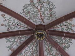 Eglise mixte Saint-Jacques-le-Majeur et son enceinte fortifiée - Français:   Alsace, Haut-Rhin, Église Saint-Jacques-le-Majeur (XVe-XVIe) de Hunawihr (PA00085463, IA68005952): Voûtes avec clés de voûtes et fresques.