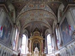 Eglise catholique Sainte-Marie-Auxiliatrice, dite basilique Notre-Dame-de-Thierenbach - Alsace, Haut-Rhin, Jungholtz, Basilique Notre-Dame (1723) de Thierenbach (PA00085469, IA00111918): Chœur et maître-autel.