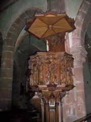 Eglise catholique de l'Invention de la Sainte-Croix - Français:   Chaire, Église de l\'Invention-de-la-Sainte-Croix