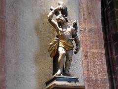 Eglise catholique de l'Invention de la Sainte-Croix - Alsace, Haut-Rhin, Église Sainte-Croix (XIIIe-XVe-XVIe) de Kaysersberg (PA00085477, IA68000563) Statue de St-Sébastien (XVIIe-XVIIIe:       This object is inscrit Monument Historique in the base Palissy, database of the French furniture patrimony of the French ministry of culture,under the referencesPM68001084 and IM68006835. беларуская (тарашкевіца)| brezhoneg| català| Deutsch| English| español| suomi| français| magyar| italiano| македонски| Plattdüütsch| português| українська| +/−