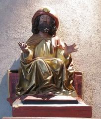 Eglise catholique de l'Invention de la Sainte-Croix - Français:   Alsace, Haut-Rhin, Église Sainte-Croix (XIIIe-XVe-XVIe) de Kaysersberg (PA00085477, IA68000563)  Statue de Saint Jacques-le-Majeur (XVe):        This object is classé Monument Historique in the base Palissy, database of the French furniture patrimony of the French ministry of culture,under the referencesPM68000135 and IM68006833. беларуская (тарашкевіца)| brezhoneg| català| Deutsch| English| español| suomi| français| magyar| italiano| македонски| Plattdüütsch| português| українська| +/−