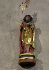 Eglise catholique de l'Invention de la Sainte-Croix - Alsace, Haut-Rhin, Église Sainte-Croix (XIIIe-XVe-XVIe) de Kaysersberg (PA00085477, IA68000563) Statue de Saint Jean-Baptiste (XVe):        This object is classé Monument Historique in the base Palissy, database of the French furniture patrimony of the French ministry of culture, under the references PM68000168 and IM68006834. brezhoneg | català | Deutsch | English | español | français | italiano | magyar | македонски | Plattdüütsch | português | suomi | +/−