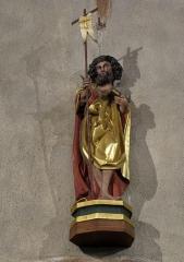 Eglise catholique de l'Invention de la Sainte-Croix - Alsace, Haut-Rhin, Église Sainte-Croix (XIIIe-XVe-XVIe) de Kaysersberg (PA00085477, IA68000563) Statue de Saint Jean-Baptiste (XVe):       This object is classé Monument Historique in the base Palissy, database of the French furniture patrimony of the French ministry of culture,under the referencesPM68000168 and IM68006834. беларуская (тарашкевіца)| brezhoneg| català| Deutsch| English| español| suomi| français| magyar| italiano| македонски| Plattdüütsch| português| українська| +/−