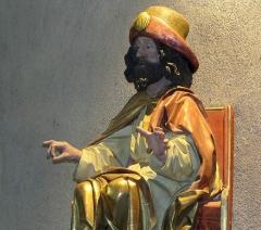 Eglise catholique de l'Invention de la Sainte-Croix - Alsace, Haut-Rhin, Église Sainte-Croix (XIIIe-XVe-XVIe) de Kaysersberg (PA00085477, IA68000563)  Statue de Saint Jacques-le-Majeur (XVe):       This object is classé Monument Historique in the base Palissy, database of the French furniture patrimony of the French ministry of culture,under the referencesPM68000135 and IM68006833. беларуская (тарашкевіца)| brezhoneg| català| Deutsch| English| español| suomi| français| magyar| italiano| македонски| Plattdüütsch| português| українська| +/−