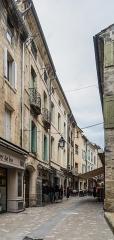 Tour dite des Sorcières dans le jardin de l'Hôtel Chambord - English: Rue Jacques d'Uzès in Uzès, Gard, France