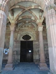 Eglise catholique Saint-Jean-Baptiste - Alsace, Haut-Rhin, Collégiale Saints-Michel et Gangolphe de Lautenbach (PA00085503, IA00054819).