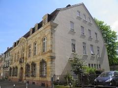 Immeuble - Français:   Maison rue des Franciscains à Mulhouse (Haut-Rhin, France).