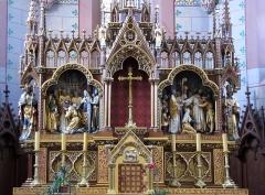 Eglise catholique Saint-Martin - Alsace, Haut-Rhin, Église Saint-Martin (XIIIe-XIXe) de Pfaffenheim (PA00085583, IA68004314). Maître-autel
