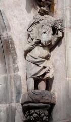 Ancienne église des Augustins, dite de la Providence - Alsace, Haut-Rhin, Ribeauvillé, Église du Couvent des Augustins (XIVe-XVe-XVIIIe), 3 rue de l'Abbé-Louis-Kremp. (PA00085586, IA68006914). Statue de Saint-Christophe (XIVe):     This object is indexed in the base Palissy, database of the French furniture patrimony of the French ministry of culture,under the referenceIM68009426. brezhoneg| català| Deutsch| English| español| français| italiano| magyar| македонски| Plattdüütsch| português| suomi| +/−
