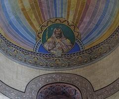 Eglise Saint-Arbogast, puis Notre-Dame de l'Assomption - Français:   Alsace, Haut-Rhin, Église Notre-Dame de l\'Assomption de Rouffach (PA00085638, IA68004432): Peintures monumentales sur plafond croisillon.