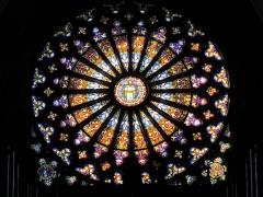 Eglise Saint-Arbogast, puis Notre-Dame de l'Assomption - Français:   Alsace, Haut-Rhin, Église Notre-Dame de l\'Assomption de Rouffach (PA00085638, IA68004432): Rosace (XIIIe-XIXe).