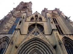 Eglise Saint-Arbogast, puis Notre-Dame de l'Assomption - Français:   Alsace, Haut-Rhin, Église Notre-Dame de l\'Assomption de Rouffach (PA00085638, IA68004432): Massif occidental avec gâble du portail.