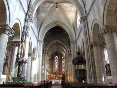 Eglise Saint-Arbogast, puis Notre-Dame de l'Assomption - Français:   Alsace, Haut-Rhin, Église Notre-Dame de l\'Assomption de Rouffach (PA00085638, IA68004432):Vue intérieure de la nef vers le chœur.
