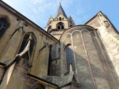 Eglise Saint-Arbogast, puis Notre-Dame de l'Assomption - Français:   Alsace, Haut-Rhin, Église Notre-Dame de l\'Assomption de Rouffach (PA00085638, IA68004432): Tour de croisée et partie nord du chevet.