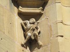 Eglise Saint-Arbogast, puis Notre-Dame de l'Assomption - Français:   Alsace, Haut-Rhin, Église Notre-Dame de l\'Assomption de Rouffach (PA00085638, IA68004432): Cul-de-lampe sur façade occidentale.