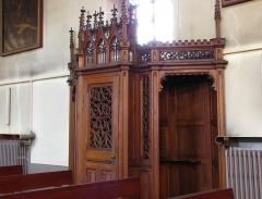 Eglise catholique Saint-Hippolyte - Français:   Alsace, Haut-Rhin, Église Saint-Hippolyte de Saint-Hippolyte (PA00085661, IA68005984): Confessionnal.