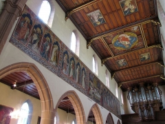 Eglise catholique Saint-Hippolyte - Français:   Alsace, Haut-Rhin, Église Saint-Hippolyte de Saint-Hippolyte (PA00085661, IA68005984). Fresques néo-gothiques \
