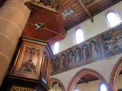Eglise catholique Saint-Hippolyte - Français:   Alsace, Haut-Rhin, Église Saint-Hippolyte de Saint-Hippolyte (PA00085661, IA68005984): Abat-voix de la chaire à prêcher (XIXe).