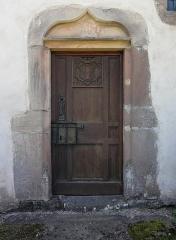 Eglise Saint-Pierre-sur-l'Hâte - Français:   Alsace, Haut-Rhin, Sainte-Marie-aux-Mines, Église Saint-Pierre-sur-l\'Hâte (XVIe-XVIIe), chemin Saint-Pierre-sur-l\'Hâte         This building is inscrit au titre des monuments historiques de la France. It is indexed in the base Mérimée, a database of architectural heritage maintained by the French Ministry of Culture,under the references PA00085664   and IA68007568 .  беларуская (тарашкевіца)  বাংলা  brezhoneg  català  Deutsch  Ελληνικά  English  Esperanto  español  euskara  suomi  français  magyar  italiano  日本語  македонски  Nederlands  português  português do Brasil  română  русский  sicilianu  svenska  українська  العربيَّة  +/−   Portail latéral.