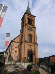 Eglise catholique Saint-Jean-Baptiste - Français:   Eglise Saint Jean Baptiste de Soultzbach-les-Bains, Haut-Rhin, France