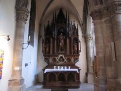 Eglise catholique Saint-Grégoire - Alsace, Haut-Rhin, Église Saint-Grégoire de Ribeauvillé (PA00085767, IA68006910). Autel-retable secondaire