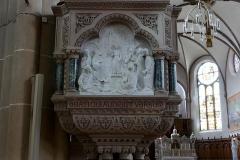 Eglise catholique Sainte-Odile - Alsace, Haut-Rhin, Église Sainte-Odile de Lapoutroie (PA00085781, IA68007377). Chaire à prêcher (XXe): Relief