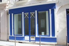 Boutique - English: Former shop at 14 rue de La Sourdière in Paris