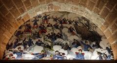 Eglise Saint-Eustache -  Une fresque dans un passage souterrain de la citadelle de Belfort.