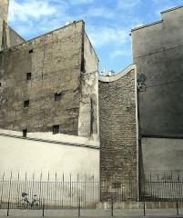 Enceinte de Philippe-Auguste - English: Louvre street (Philippe-Auguste tower) - Paris