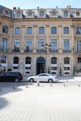 Ancien hôtel de l'Etat-Major de la Place et du Gouvernement militaire - English: Hôtel de l'État-Major de la Place et du Gouvernement militaire, 7 - 9 Vendôme place in Paris