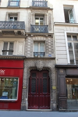 Immeuble mauresque - English: Building 28 de Richelieu street in Paris.