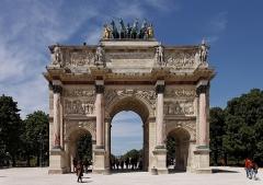 Palais du Louvre et jardin des Tuileries -  L'arc de triomphe du Carrousel dans le jardin des Tuileries.