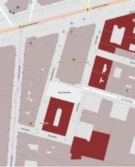 Immeubles - English: Building: 1, 2, 4, 12, 14, 16, 18, 20 rue Favart, Paris, France.