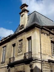 Hôtel Carnavalet - Hôtel de Carnavalet - 23 rue de Sévigné - Paris 3 Musée Carnavalet  Détail du bâtiment à l'angle de la Rue de Sévigné et de la Rue des Francs-Bourgeois.