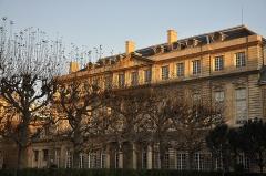 Anciens hôtels de Rohan et Soubise, actuellement Archives Nationales - English: View from the garden of Hôtel de Rohan, in the 3rd arrondissement of Paris, France. The hotel shelters the National Archives.