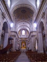Eglise Saint-Louis-en-l'Ile - English: Nave of the église Saint-Louis-en-l'Île, île Saint-Louis, Paris IVe arrondissement, France.