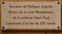 Enceinte de Philippe-Auguste - English: Wall of Philip II Augustus, Paris 4th district, France 12th century