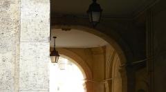 Hôtel  , dit Hôtel Le Rebours - Français:   Hôtel Le Rebours - 12 rue Saint-Merri - Paris 4 La foute du porche