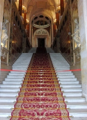 Hôtel de ville - L'escalier d'honneur de l'Hôtel de ville de Paris  Paris