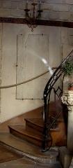 Maison - Français:   13 rue de Sévigné - Paris 4 Grand escalier du bâtiment B sur cour