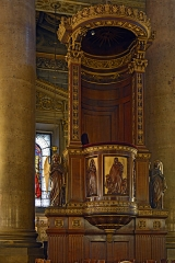 Eglise Saint-Vincent-de-Paul - Français:   Chaire de l\'église Saint-Vincent-de-Paul, Paris 10 arrdt, France