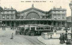 Gare de l'Est - Français:   Carte postale ancienne éditée par M. J. n°504: PARIS - La Gare de l\'Est